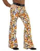 70's Groovy Flared Trousers Bubbles (09265)